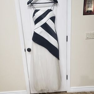 Black and White Prom Dress S7/8